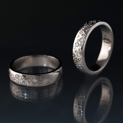 Diamond Star Dust Wedding Ring - by Nodeform