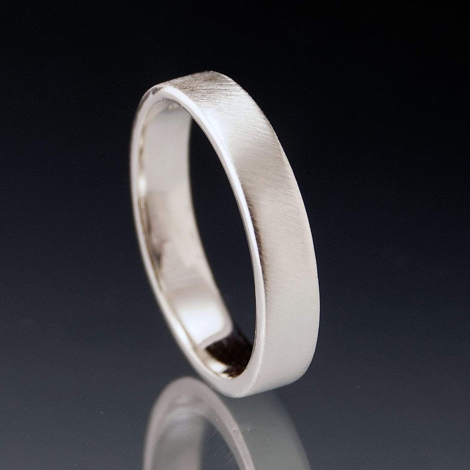 Narrow Flat Simple Wedding Band, 2-4mm Width - by Nodeform