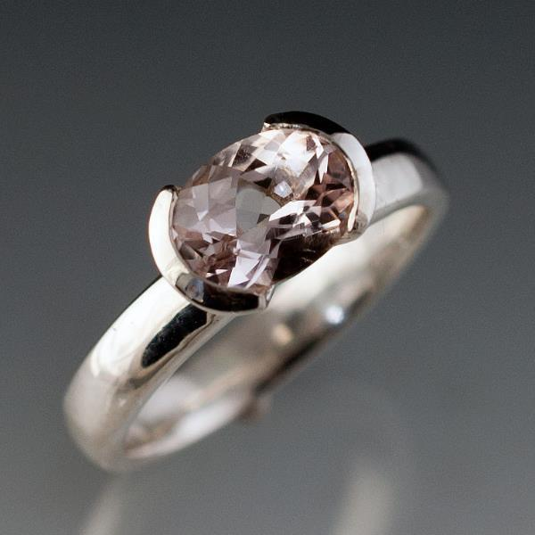 oval morganite solitaire engagement ring