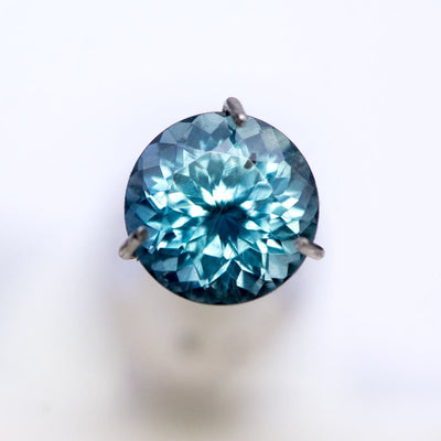 Round Portuguese Cut Teal Blue 6mm/1.08ct Fair Trade Malawi Sapphire #11 Loose Gemstone