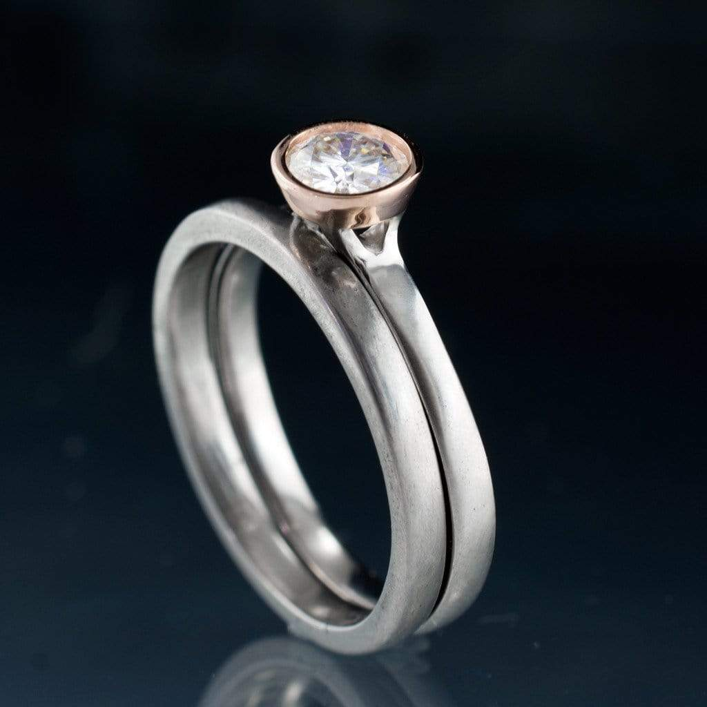 wedding solid with side stone fantacy rings white item ring jewelry gold natural round engagement moissanite from sapphire in