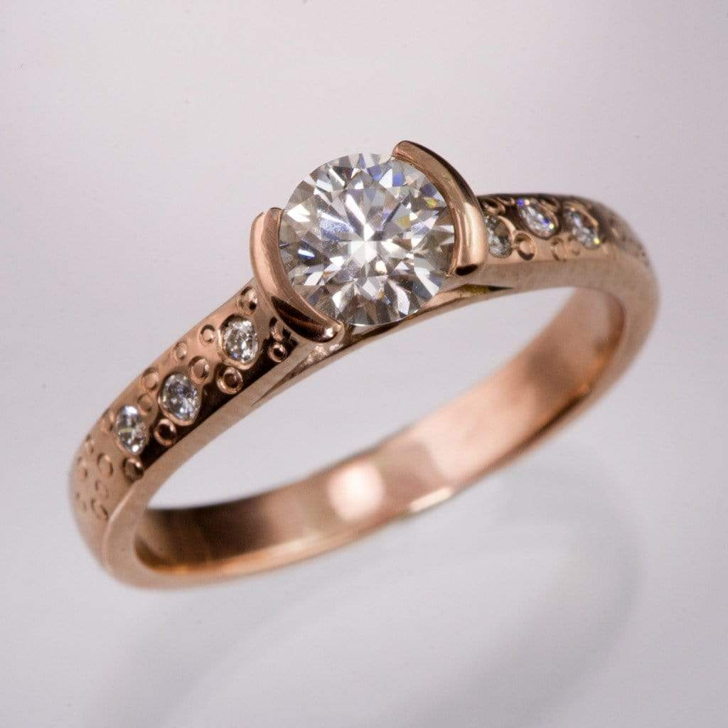 ring star round gold bbdc dust ghi half dsc diamond nodeform products engagement moissanite rose bezel by