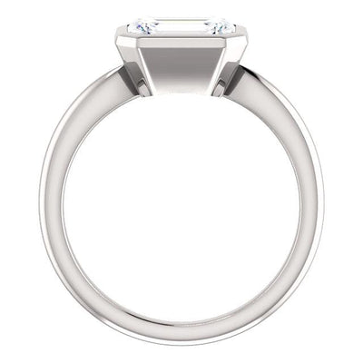 Bonnie Bezel Set Solitaire Engagement Ring - Setting only