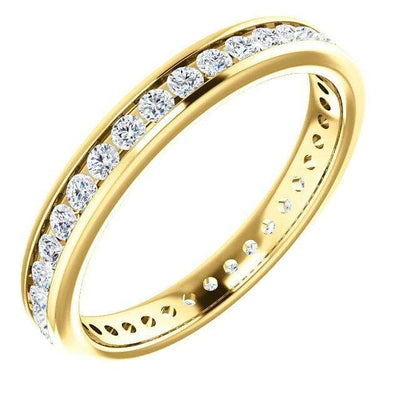 Moissanite Channel Set Eternity Anniversary Wedding Band