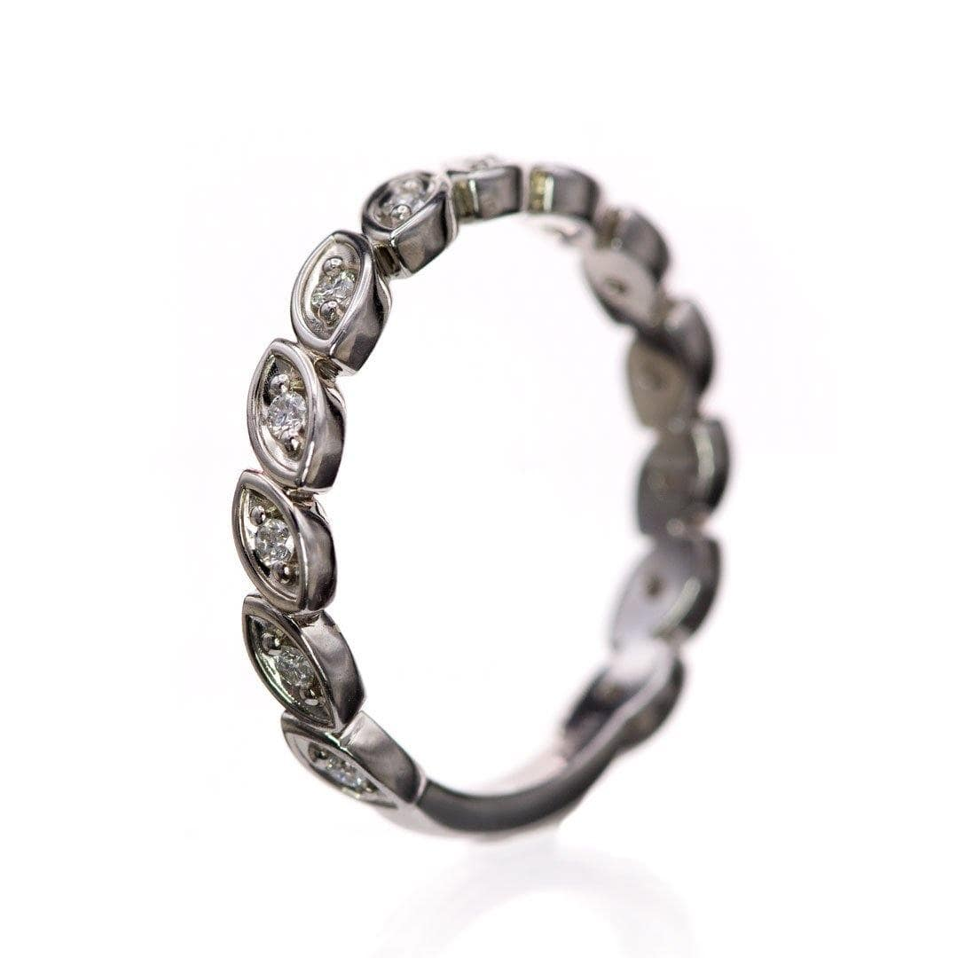 Mable Band, 1/6CTW Lab-created Diamonds or Moissanite Stacking Half Eternity Anniversary Ring