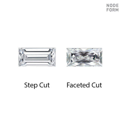 Baguette Forever One Moissanite Bar Set Stud Earrings