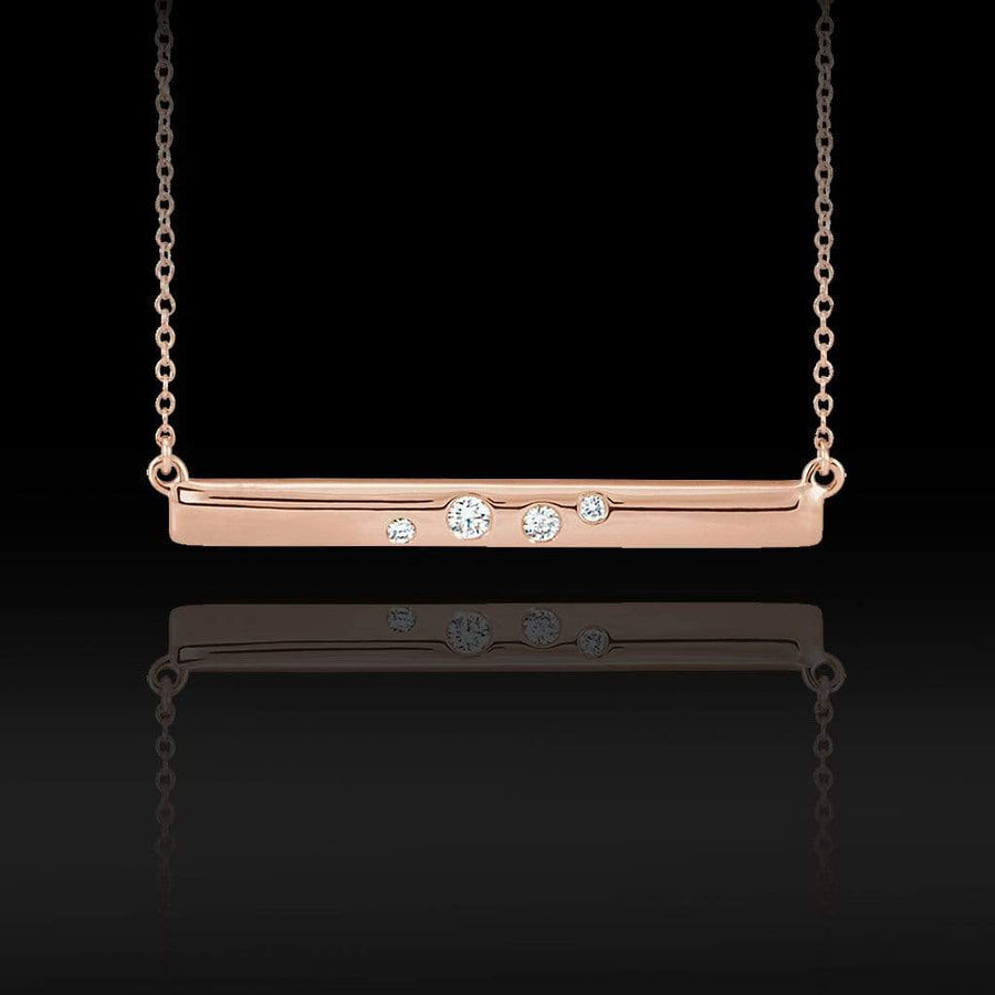 0.1 CTW Diamond Horizontal Bar Pendant Necklace - by Nodeform