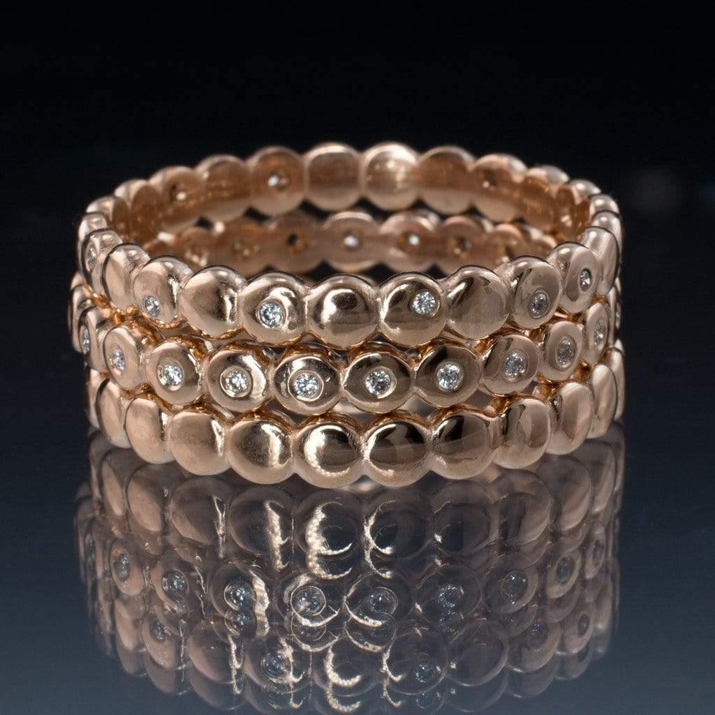 anyone with two wedding rings show me stacked wedding rings set