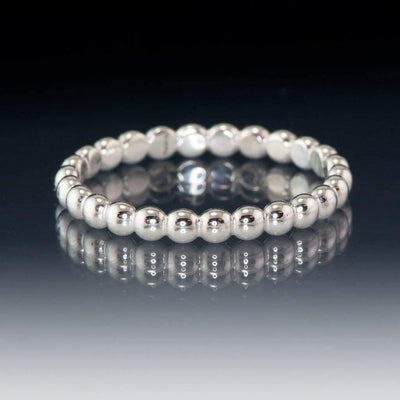 Beaded Eternity Ring Stacking Wedding Band