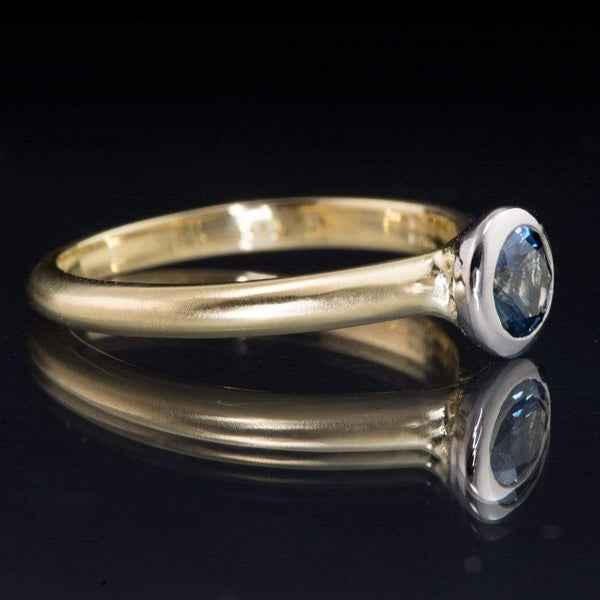 Mixed Metal Fair Trade Blue Australian Kings Plain Sapphire Engagement Ring