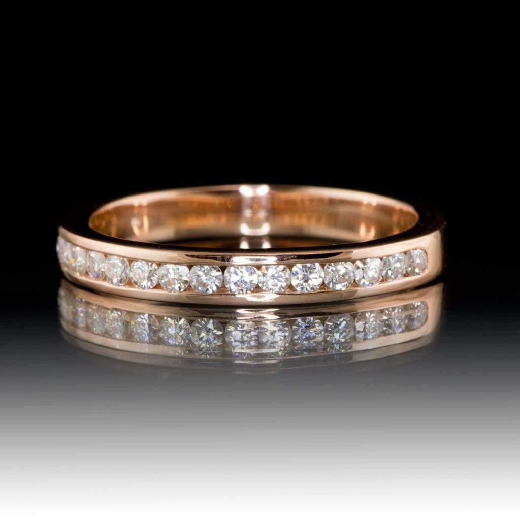 Moissanite Channel Set Anniversary Wedding Band - by Nodeform