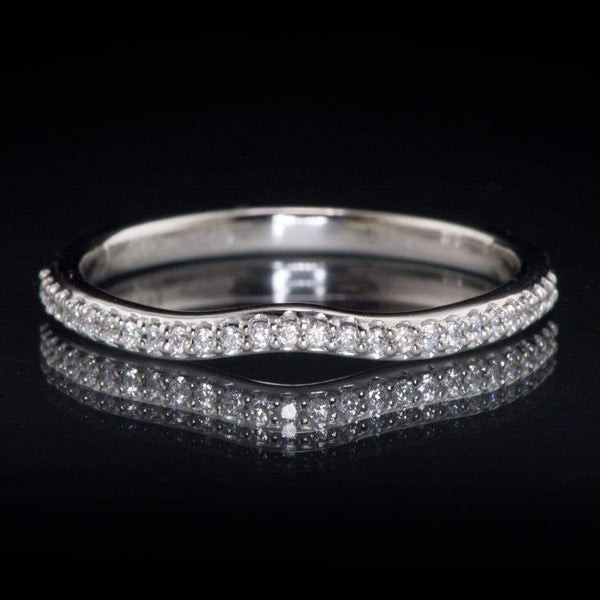Half Eternity Diamond Micro Pave Wedding Ring - by Nodeform