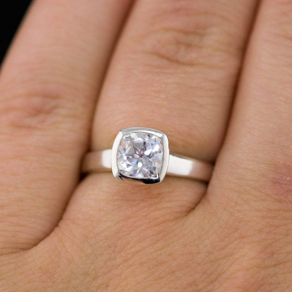 accent of rings created lab diamond and sapphire engagement luxury white morganite