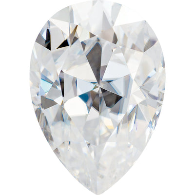 Pear Cut Moissanite Stone