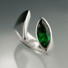 Marquise Green Topaz Envy Sterling Silver Ring Statement Cocktail Ring, ready to ship size 8.5 to 9.5