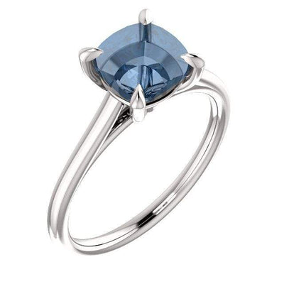 Emily Prong Set Narrow Cathedral Solitaire Engagement Ring - Setting only