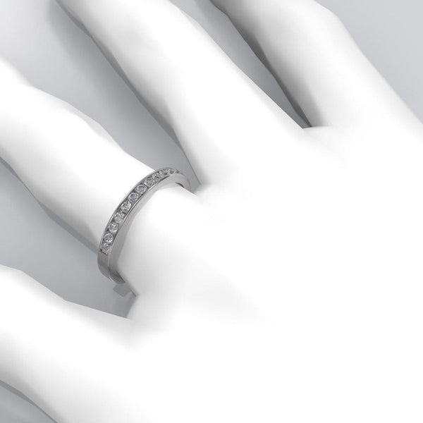 Moissanite Channel Set Wedding Band