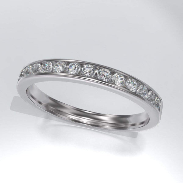 Moissanite Channel Set Wedding Band - by Nodeform