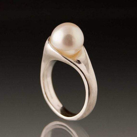 White Pearl Modern Statement Ring