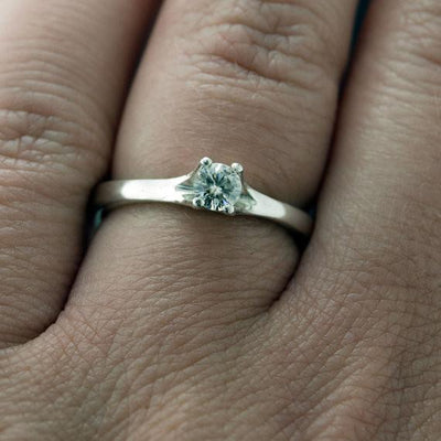 Classic Diamond Prong Set Solitaire Engagement Ring - by Nodeform
