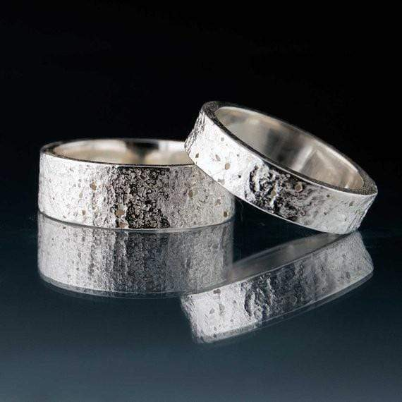 Concrete Texture Wedding Band - by Nodeform