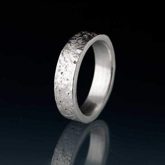 Concrete Texture Wedding Band
