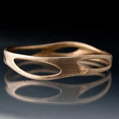 Stainless Steel Bracelet Bangle 3D Printed Morphed Design, Ready to Ship Medium Size
