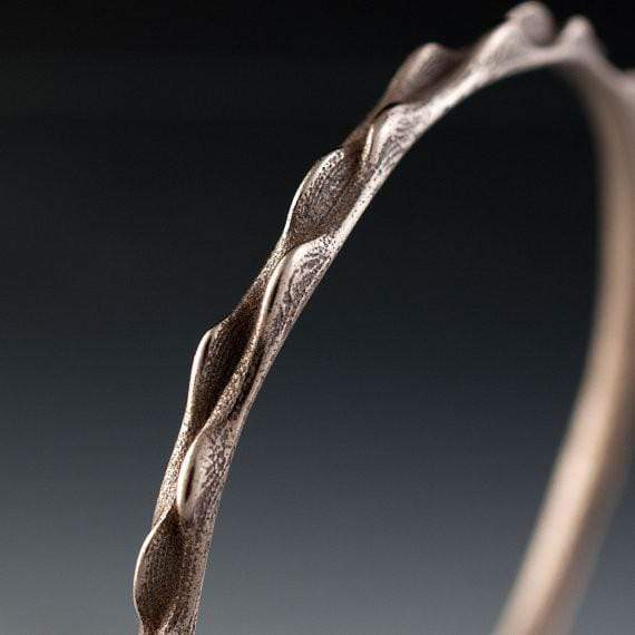 Bumpy Stainless Steel Bracelet Bangle 3D Printed Design, Ready to Ship