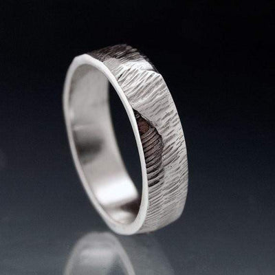 Wide Rasp Texture Wedding Band - by Nodeform