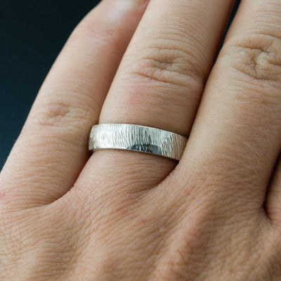 Rasp Texture Wedding Band, Set of 2 Matching Rings - by Nodeform