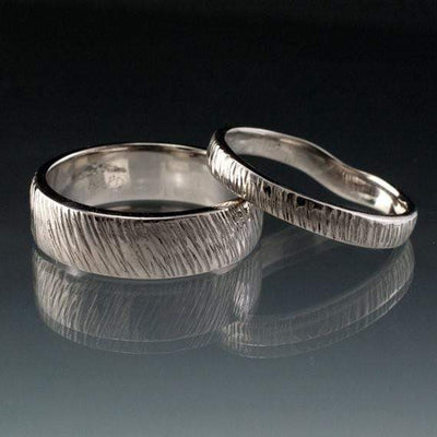 Wide Rasp Texture Wedding Band