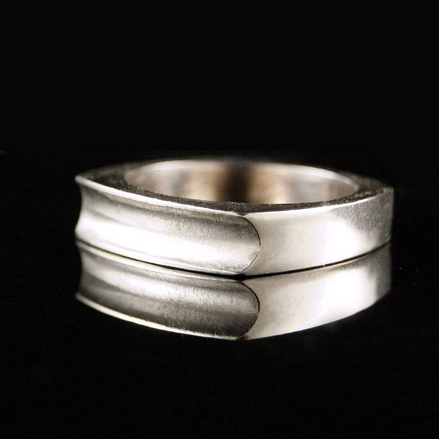 Square Grooved Wedding Band Ring - by Nodeform