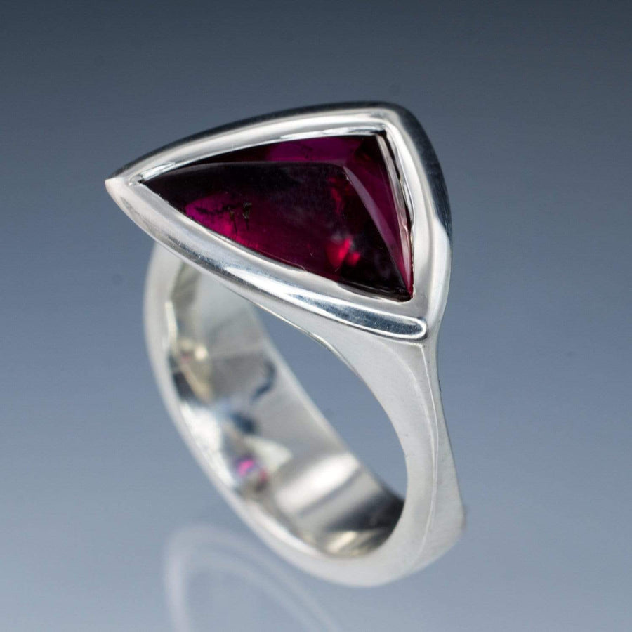 Rubellite Tourmaline Ring Tetra Gemstone Statement Ring, Ready to Ship size 5.5 to 8