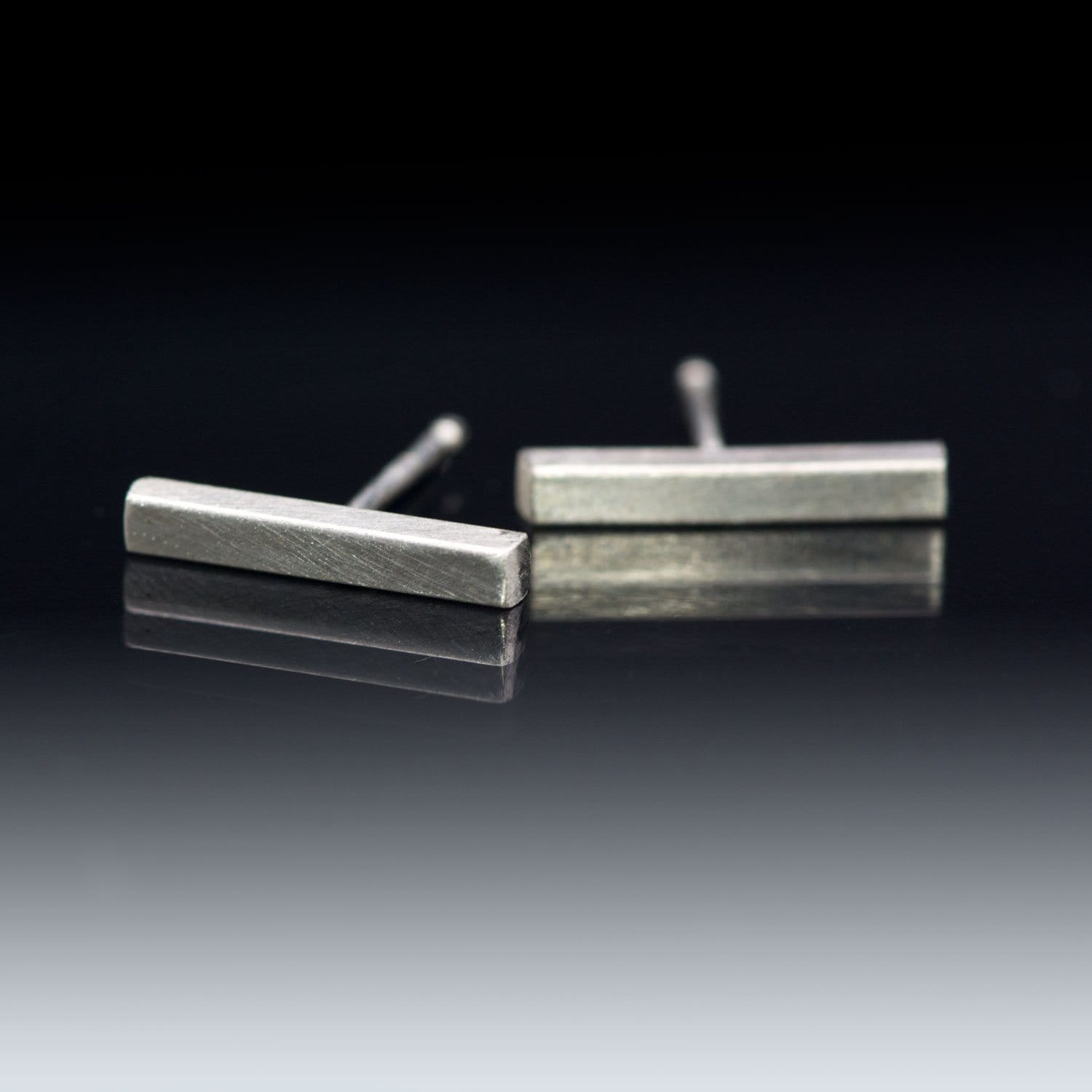 Simple Sterling Silver Bar Studs Earrings, Ready to Ship
