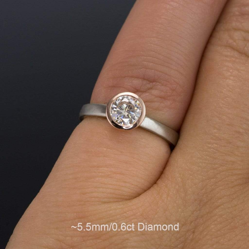 mount ring semi product and hidden round hearts with halo diamond