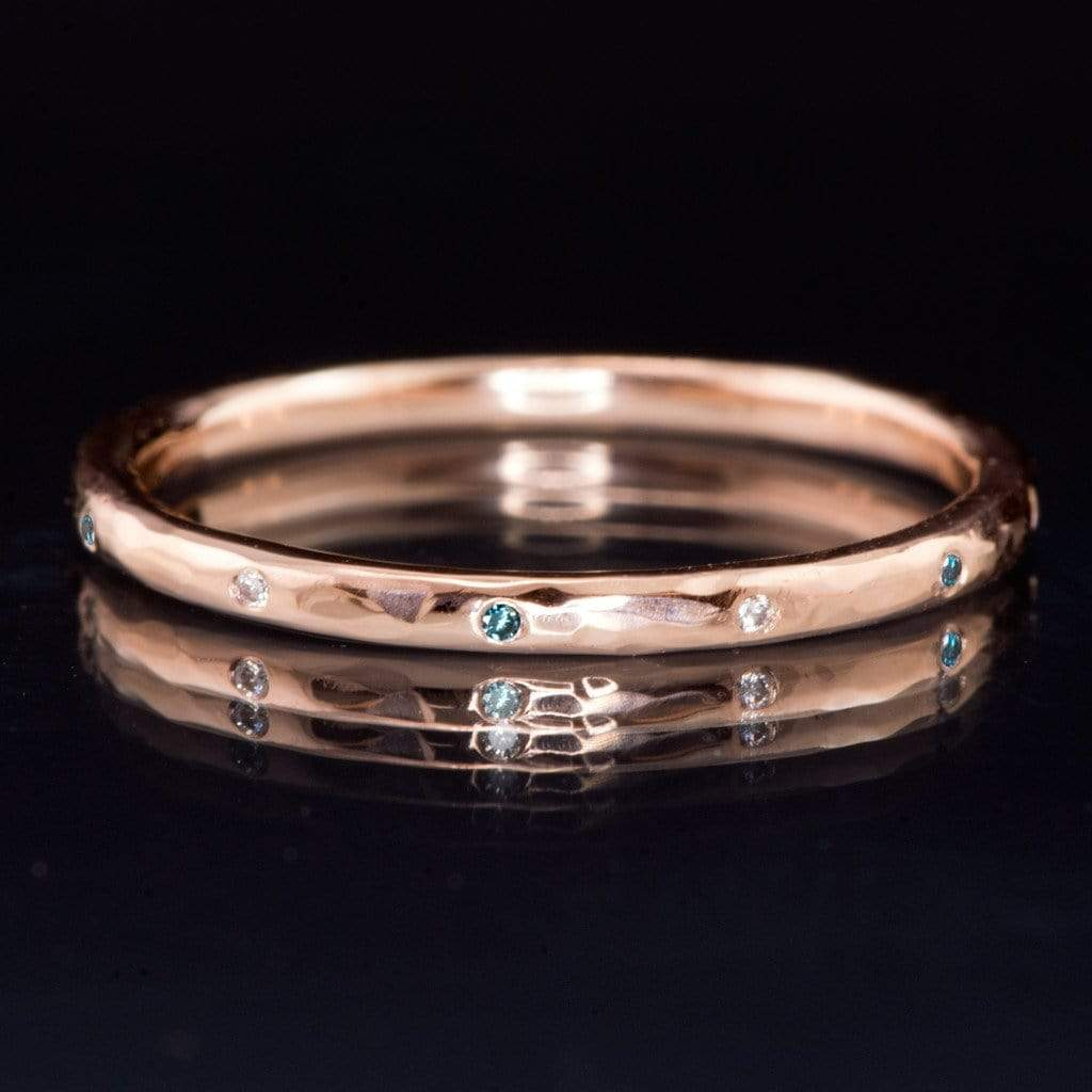 rings thin diamonds band bands wedding blushingblonde with gold