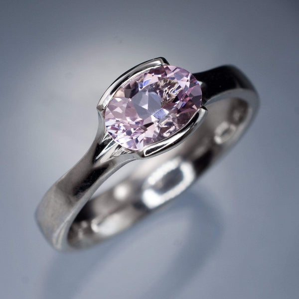 morganite semi-bezel ring