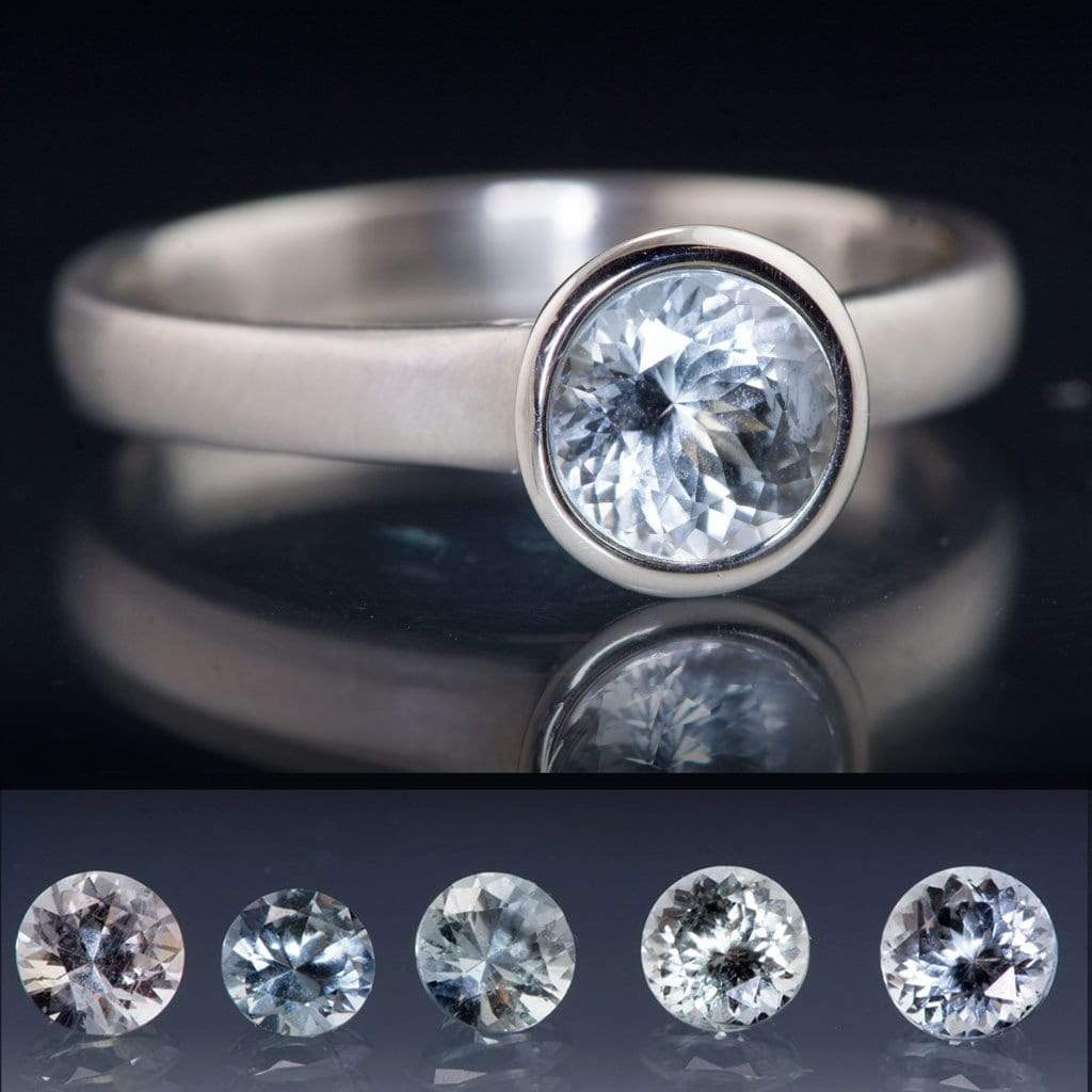 bling baquettes zirconia ring silver color cubic cut sapphire jewelry blue baguettes engagement princess cz rh gray