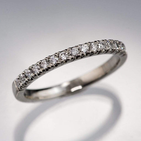 Simple wedding bands diamond pave ring stacking wedding band by nodeform junglespirit Gallery