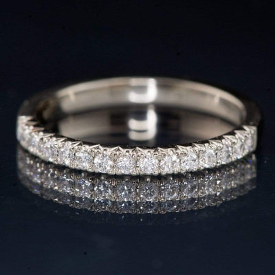 Diamond Pave Ring Stacking Wedding Band - by Nodeform