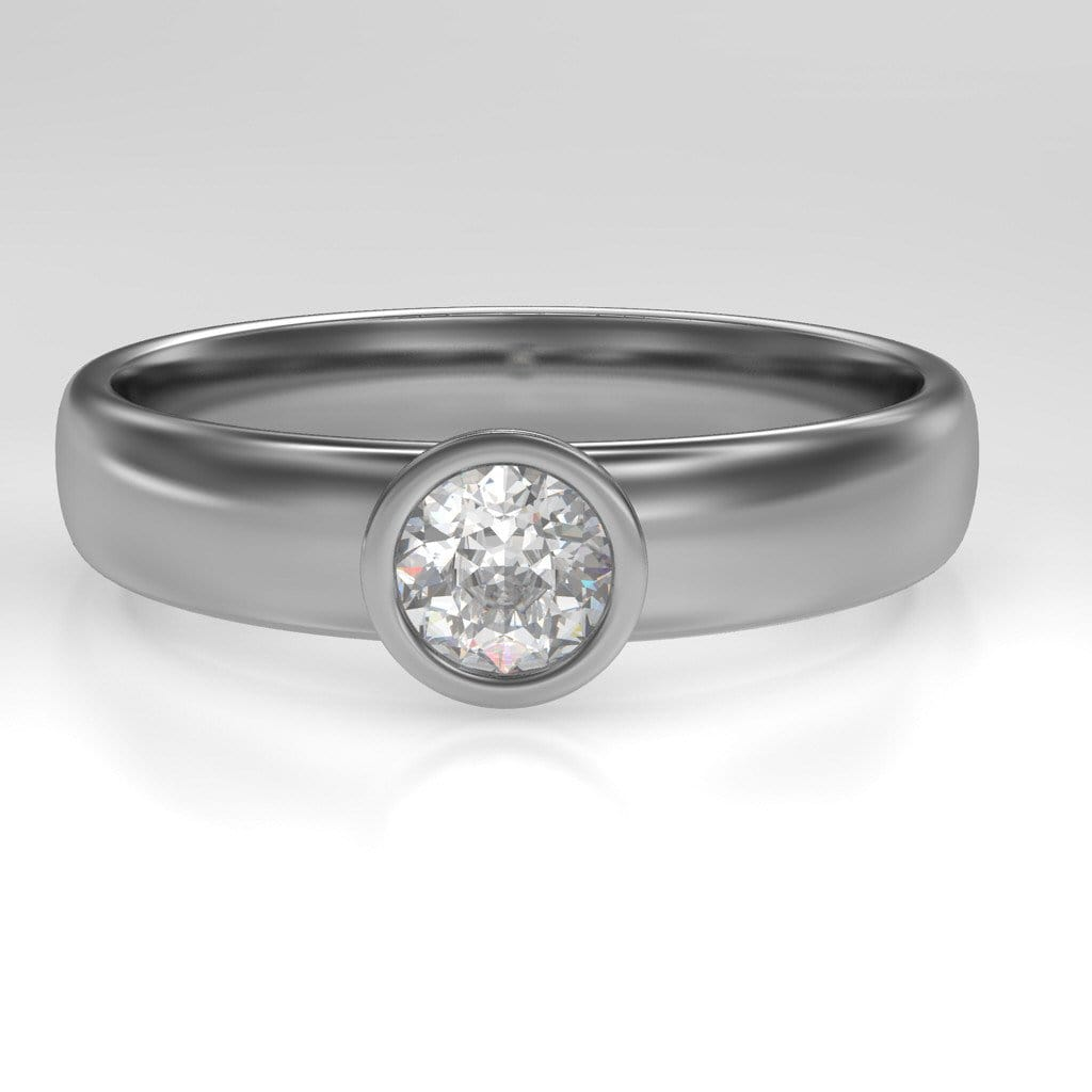 halo profile ring co low gabriel and simple wedding com solitaire rings calvinsjewelry