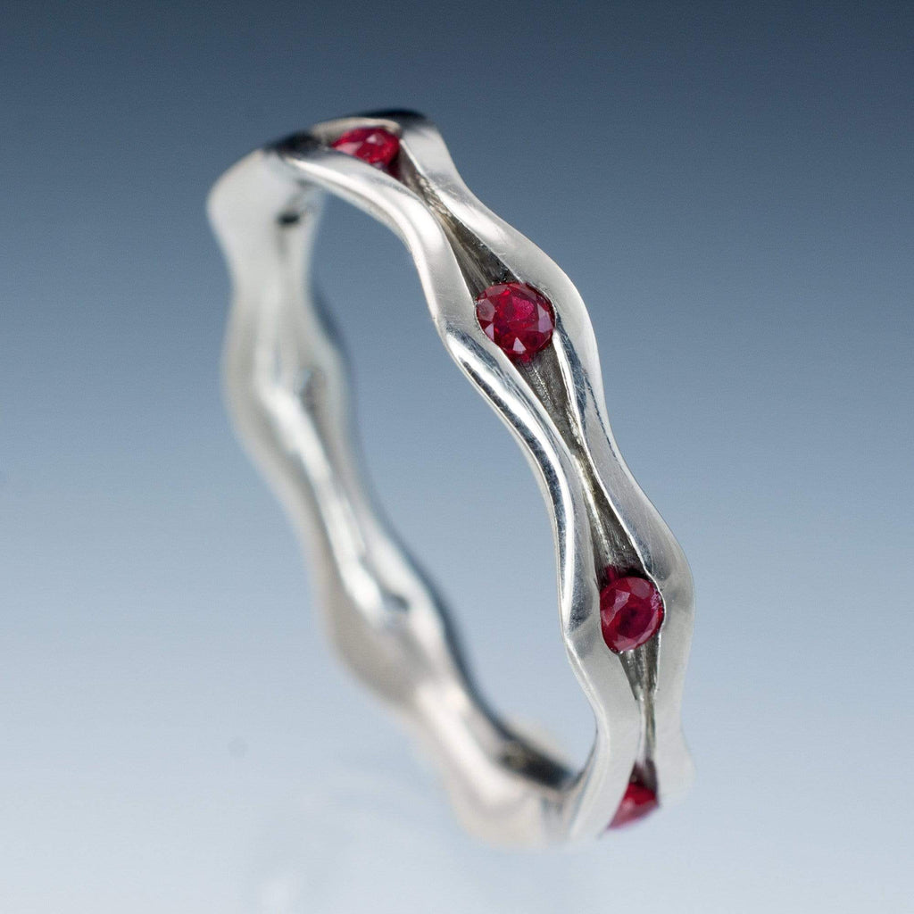 free ruby anniversary product gemstone ring sterling white silver bands shipping today miadora sapphire stackable and watches jewelry overstock