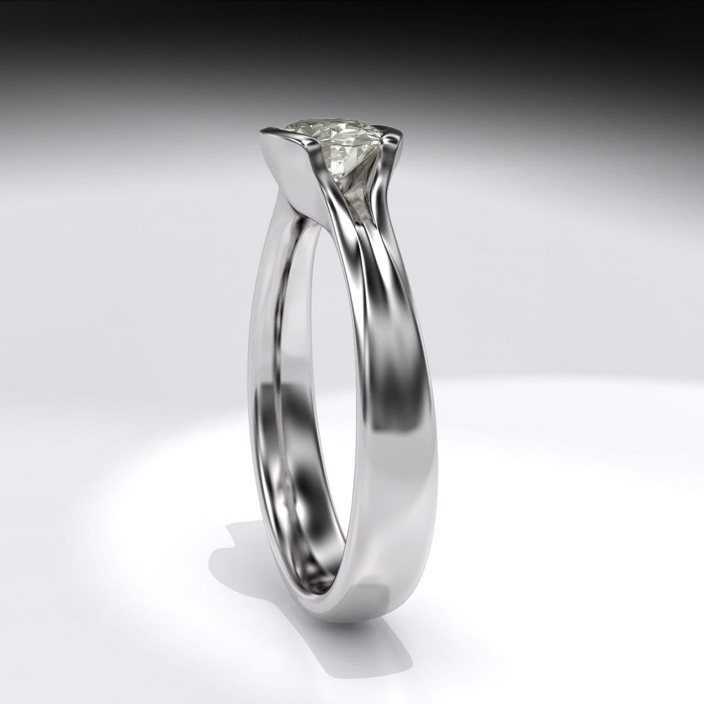 moissanite fold by engagement oval rings mod ring half bezel solitaire products nodeform