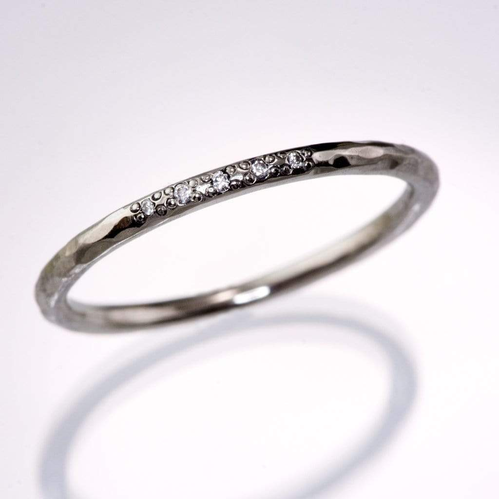 Sterling Silver Polished Thin Bead Simple Stackable Band Ring