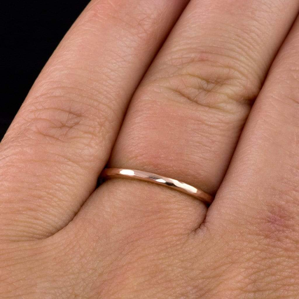 band ring thick thin engagement wedding gold topic bands