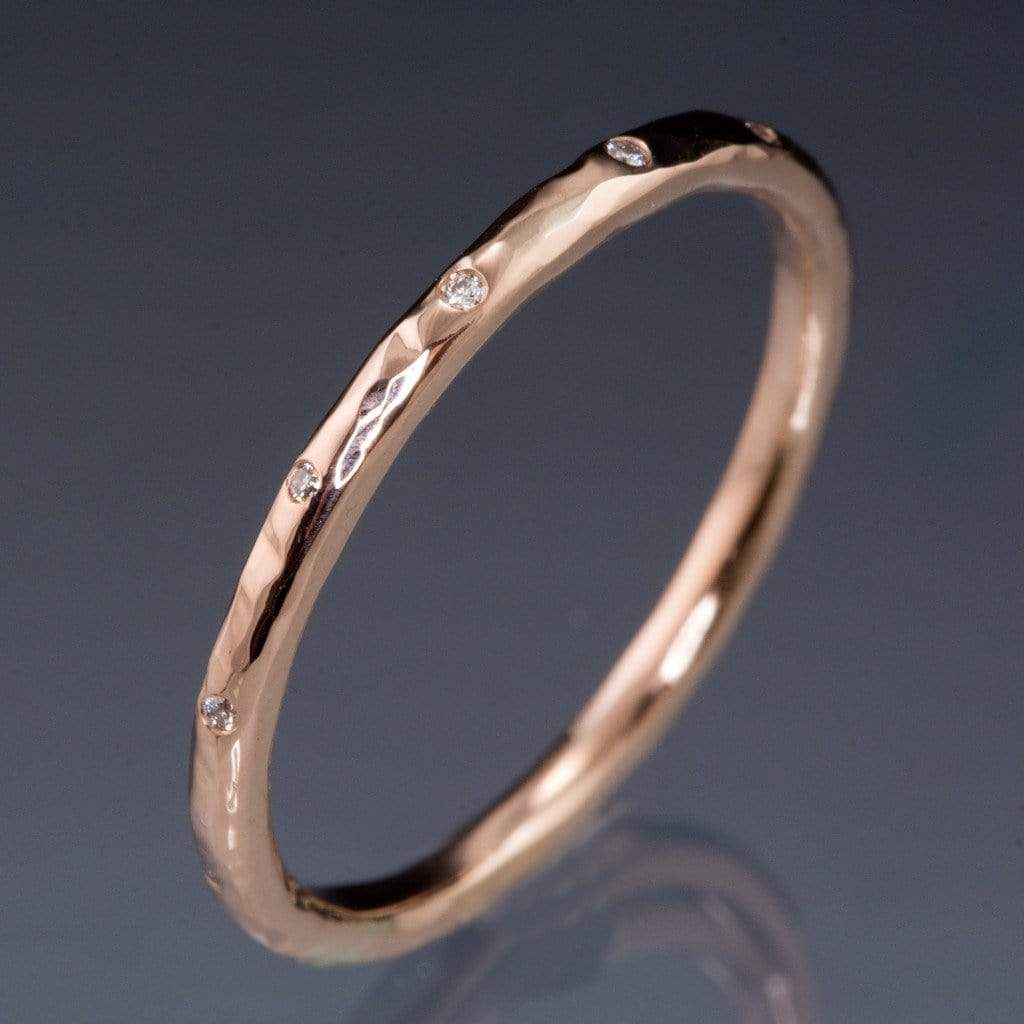 band ring wedding bands art stacking rose sets eternity deco diamond gold full anniversary