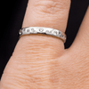 Stella Band - Scattered White Sapphire Narrow Domed Eternity Wedding Band