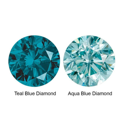 Flush Set Teal Blue or Aqua Blue Diamond Accent Add-on - by Nodeform