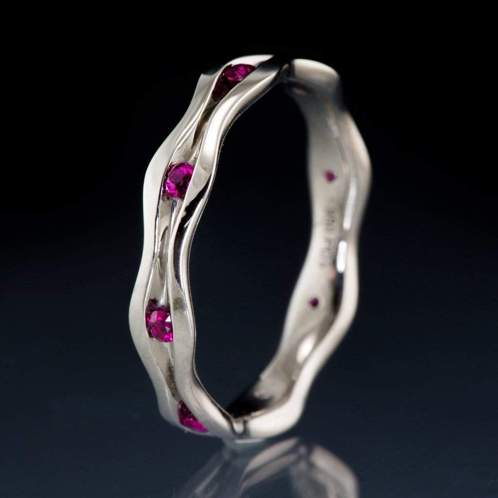 Wave Ruby Eternity Wedding Ring