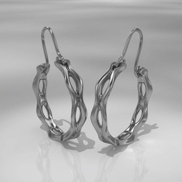Wave Hoop Earrings - by Nodeform